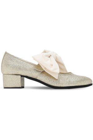MONNALISA Mädchen Ballerinas - Schuhe Aus Baumwollmischung Mit Glitzer