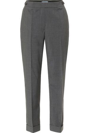 Prada Damen Stoffhosen - Cropped-Hose aus Schurwolle