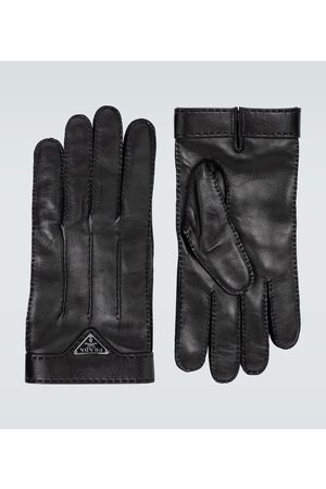 Prada Handschuhe aus Leder mit Logo