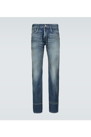 Saint Laurent Slim-Fit Jeans mit Waschung