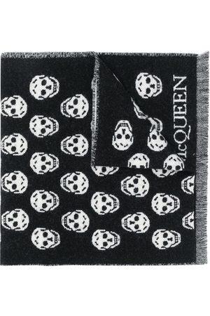 Alexander McQueen Herren Schals - Intarsien-Schal mit Totenköpfen