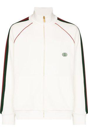 Gucci Stripe panel cotton sweatshirt