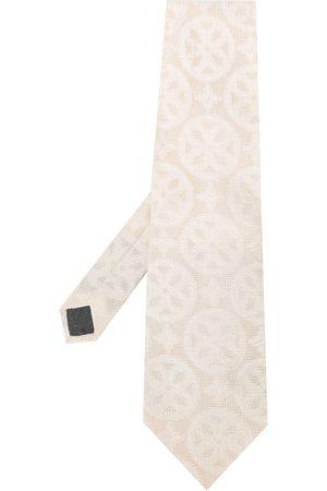 Gianfranco Ferré 1990s Krawatte mit geometrischem Print - OFF WHITE