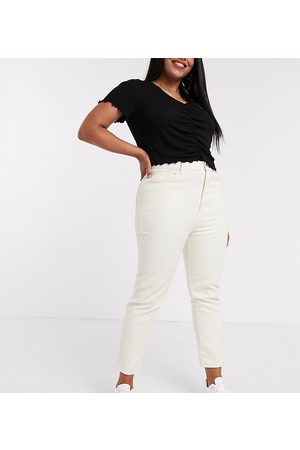Daisy Street Mom-Jeans mit hoher Taille in Stone
