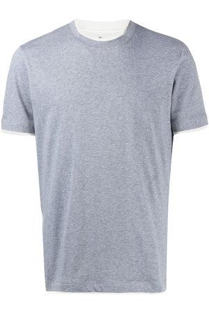 Brunello Cucinelli T-Shirt mit Kontrastdetails