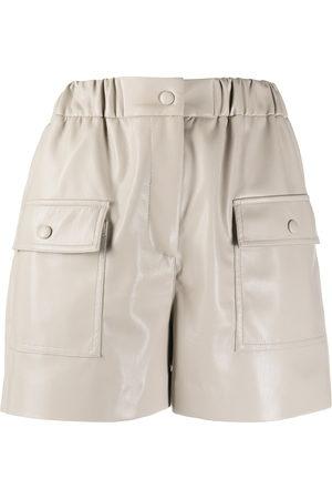 Msgm High-waist shorts - Nude
