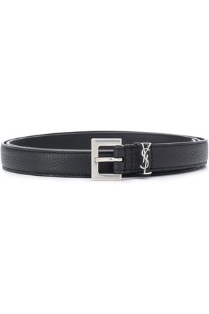 Saint Laurent Monogram appliqué adjustable belt