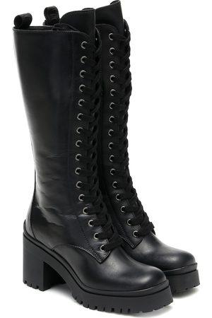 Miu Miu Damen Overknee Stiefel - Stiefel aus Leder