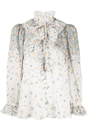ZIMMERMANN Carnaby Waterfall printed blouse