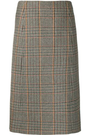 Prada Houndstooth-pattern pencil skirt