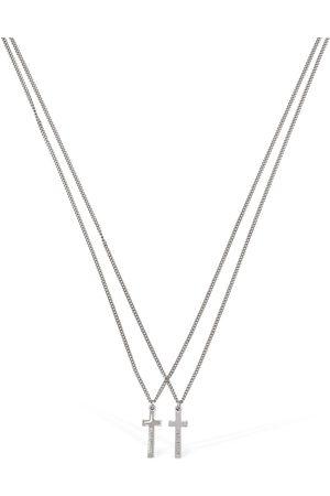 Dsquared2 Herren Halsketten - Cross Double Chain Necklace