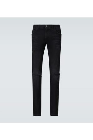 Dolce & Gabbana Skinny Jeans in Distressed-Optik