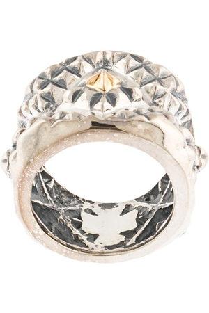 Natural Instinct Ring mit geometrischem Muster