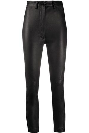ANN DEMEULEMEESTER Slim-fit cropped trosuers