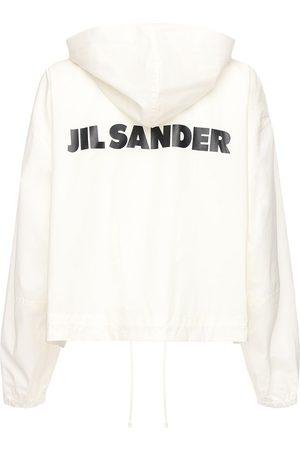 Jil Sander Cotton Windbreaker Jacket W/ Back Logo