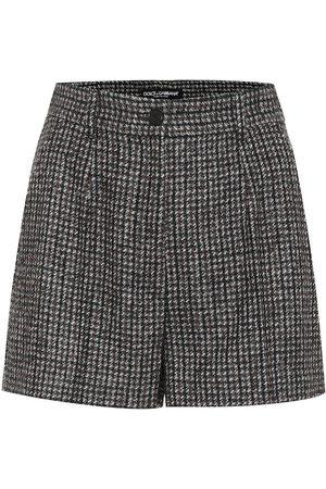 Dolce & Gabbana Karierte Shorts mit Wollanteil