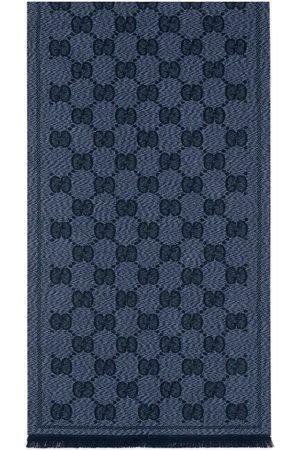Gucci Herren Schals - Schal aus Wolljacquard mit GG Motiv