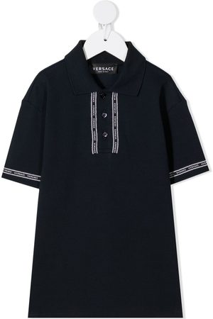 VERSACE Logo-embroidered polo short