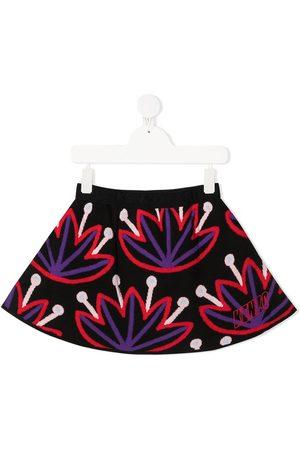 Kenzo Embroidered logo flared skirt