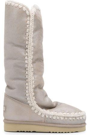 Mou Damen Stiefeletten - Eskimo' Stiefel im Metallic-Look