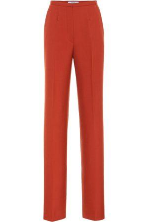 Prada Hose mit geradem Bein aus Wolle
