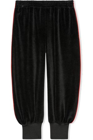 Gucci Chenille-Sporthose mit gerafftem Knöchel