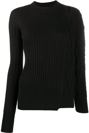 SACAI Damen Strickpullover - Pullover in Patchwork-Optik