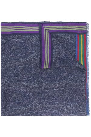 Etro Striped paisley scarf