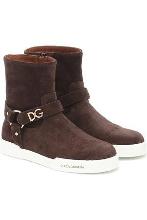Dolce & Gabbana Ankle Boots aus Veloursleder