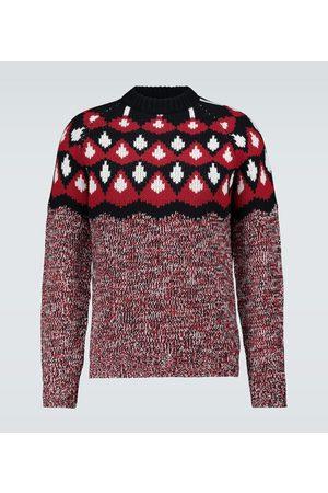 Prada Jacquard-Pullover aus Schurwolle