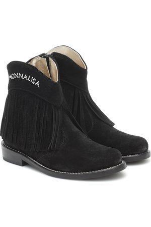 MONNALISA Ankle Boots aus Veloursleder