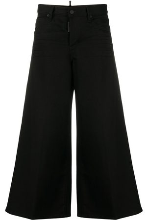 Dsquared2 Graphic-print detail cropped trousers