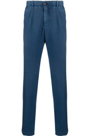 MYTHS Straight leg pleated detail trousers