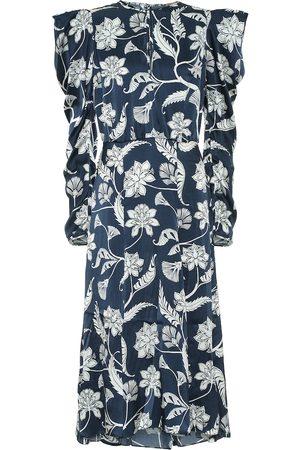 JOHANNA ORTIZ Kleid Wild Blue Wonder aus Seide