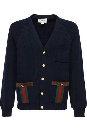 Gucci Gg-web-cardigan Aus Wollmischstrick