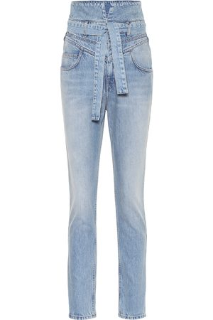 The Attico High-Rise Straight Jeans Vivien