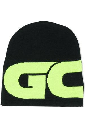 GCDS Colour-block logo beanie
