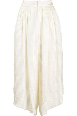 Etro Lurex-stripe silk culottes - Nude