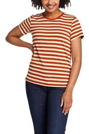 Eddie Bauer Damen T-Shirts - Myriad Performance T-Shirt - geringelt Damen Gr. XS