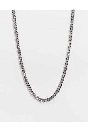 ASOS Kurze, schmale Halskette in Silberton, 4 mm