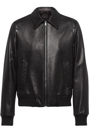 Prada Elasticated leather jacket