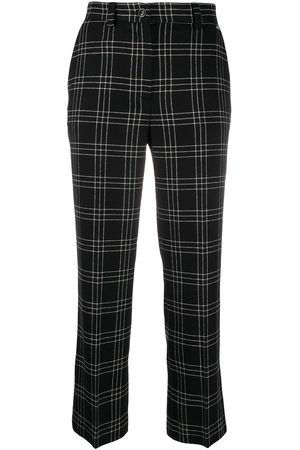 Twin-Set Checkered crop trousers