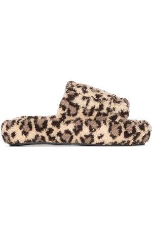 Natasha Zinko Leopard print slippers - Nude
