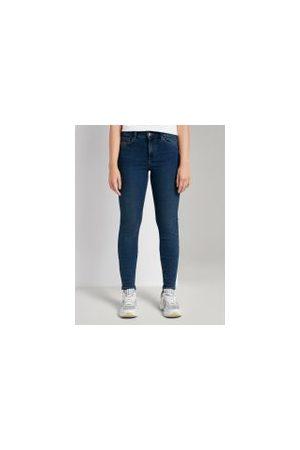 TOM TAILOR Damen Stretch - Denim Nela Extra Skinny Jeans, Damen, Used Mid Stone Blue Denim, Größe: XL/32
