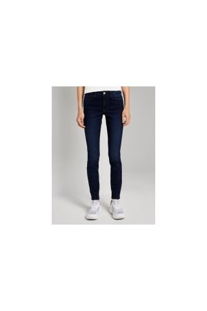 TOM TAILOR Damen Stretch - Denim Nela Extra Skinny Jeans, Damen, Used Dark Stone Blue Denim, Größe: L/32