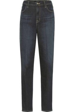 J Brand High-Rise Slim Jeans Mia