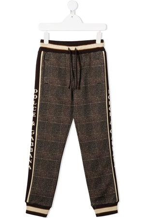 Dolce & Gabbana Checked logo trim track pants
