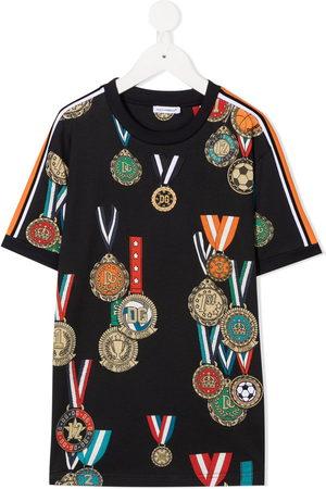 Dolce & Gabbana Medal-print cotton T-shirt