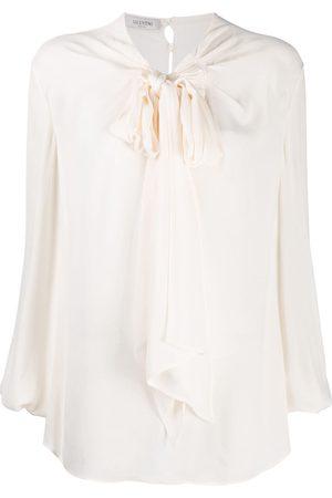 VALENTINO Tie-neck blouse - Nude