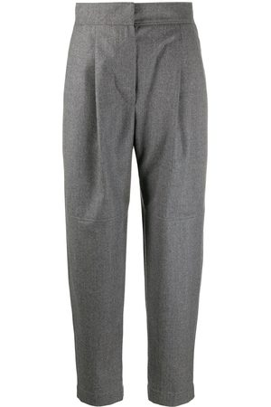 Brunello Cucinelli Cropped high-waist trousers